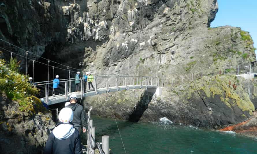 The new Gobbins Cliff Path in Antrim, Northern Ireland