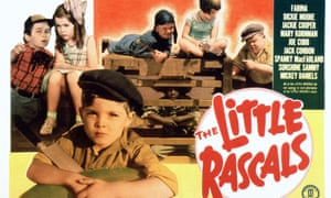Dickie Moore in a poster for The Little Rascals in the 1930s.
