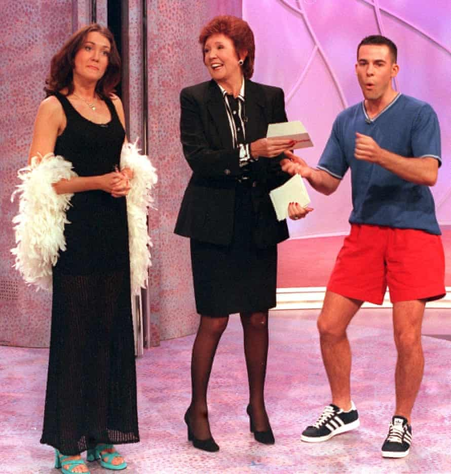 Cilla Black and contestants on Blind Date in 1997.