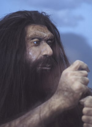 Neanderthals are portrayed in the novel as peaceful, in contrast to the more aggressive Homo sapiens.