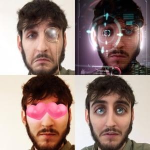 Four more snapchat lenses.