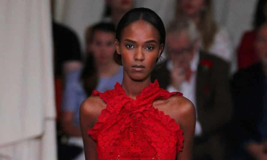 Ruby red gowns on the Oscar de la Renta catwalk
