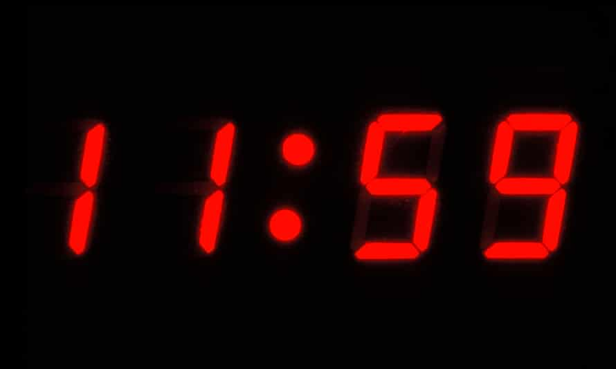 A digital clock, similar to the one built by Ahmed Mohamed.