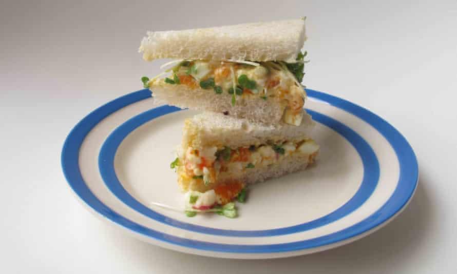 The perfect egg mayonnaise sandwich.