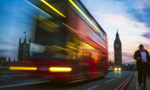 London Double Decker Bus and People against Big Ben