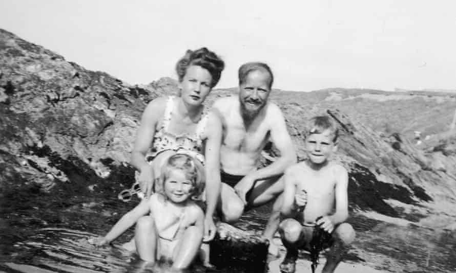 Keeping it in the family … William Golding, his wife Ann and children Judy and David