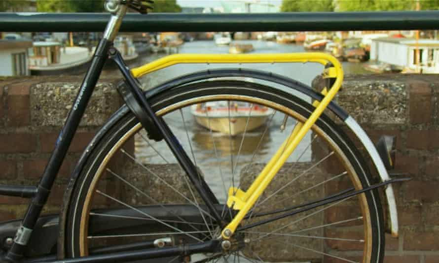 A Yellow Backie bike rack