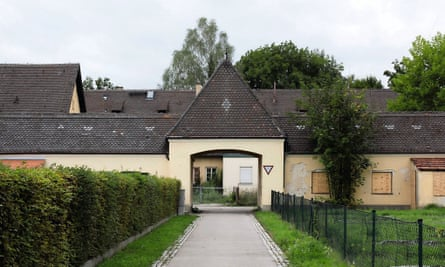 The entrance to the 'herb garden' at Dachau today