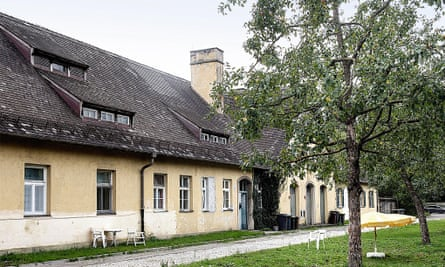 Abuilding in the Dachau 'herb garden', which now houses refugees and homeless people