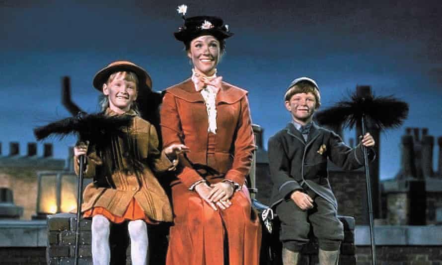 Sooty show: Karen Dotrice, Julie Andrews and Matthew Garber in Mary Poppins.