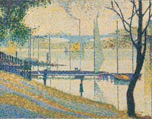 Gone dotty … after Seurat's The Bridge at Courbevoie, 1959, by Bridget Riley.