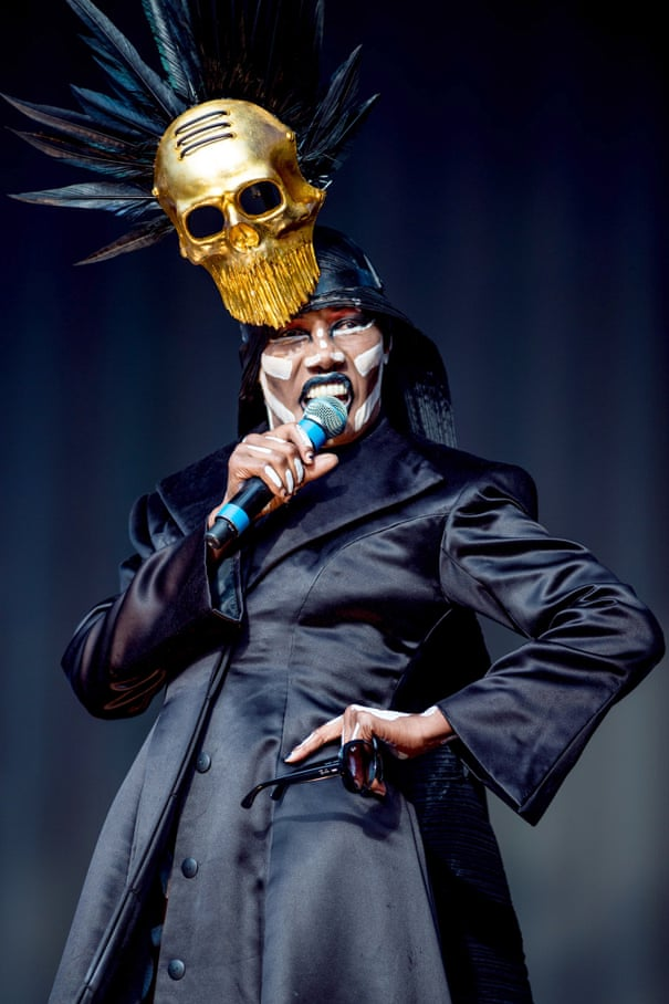 Grace Jones performs at the British Summertime Festival in Hyde Park last summer.