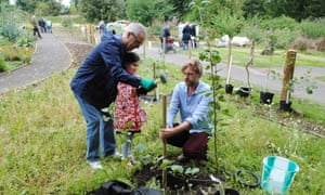Orchard planting at Ninewells Community Garden, Dundee.