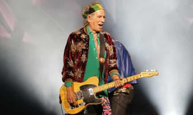 Keith Richards live on stage