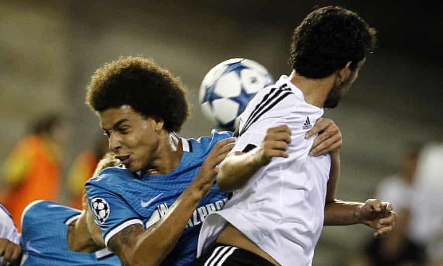 Zenit's Belgian midfielder Axel Witsel (