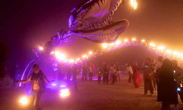 "It's quite probable that John and Ed forgot all their troubles as soon as they got to Burning Man <a href=""https://www.flickr.com/photos/donotlick/21368953406/"">Photograph: Jennifer Morrow/flickr</a>"