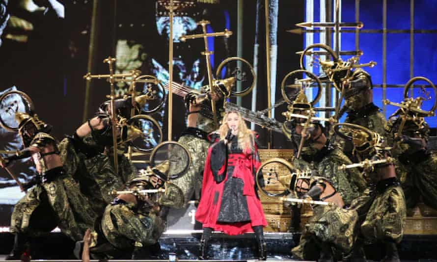 Madonna performs at Madison Square Garden in New York City on September 16, 2015.