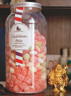a jar of sweets
