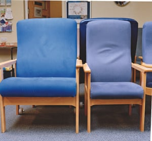 chairs in the bariatric waiting room at St Richard's hospital in Chichester