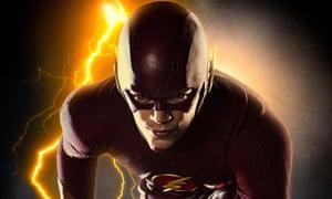 Running rings round the baddies … Grant Gustin as The Flash. Photograph: Sportsphoto Ltd/Allstar