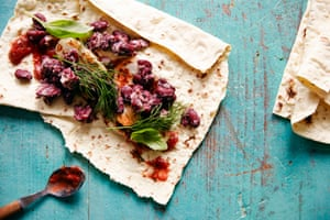 Refried kidney bean wraps make the perfect packed lunch.