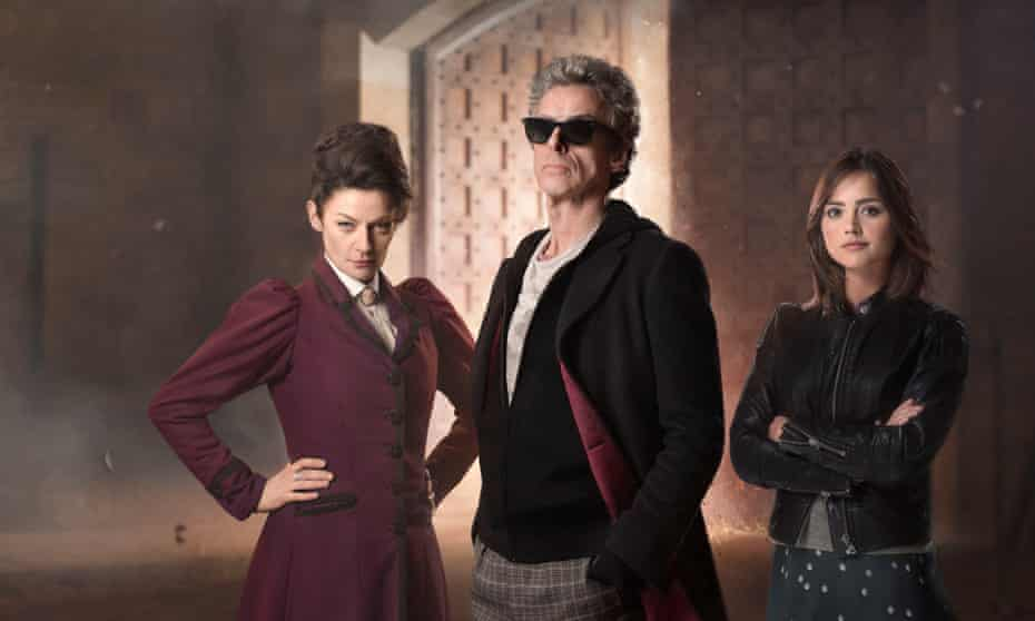The Magician's Apprentice with Missy (Michelle Gomez), the Doctor (Peter Capaldi) and Clara (Jenna Coleman).