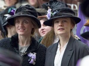 Carey Mulligan and Anne-Marie Duff in a scene from <em>Suffragette</em> (2015).