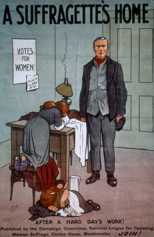 A recruitment poster for the National League for Opposing Woman Suffrage.