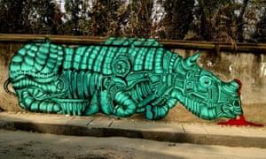 Street art in Guwahati