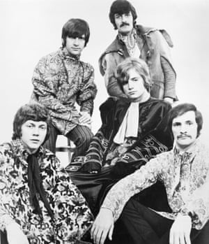 The Moody Blues in the then de rigueur psychedelic getup.