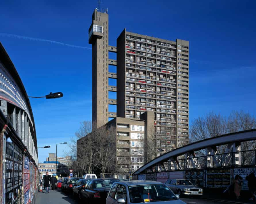 Trellick tower view from a bridge.