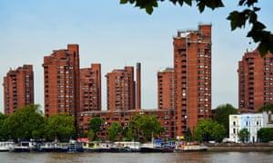 World's End estate across Thames