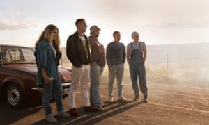 24 hour party people… Chanel Cresswell as Kelly, Michael Socha as Harvey, Andrew Ellis as Gadget, Thomas Turgoose as Shaun and Danielle Watson as Trev.