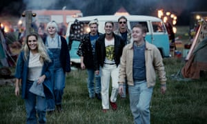 Get loaded, have a good time… Chanel Cresswell as Kelly, Danielle Watson as Trev, Joe Dempsey as Higgy, Michael Socha as Harvey, Perry Fitzpatrick as Flip and Thomas Turgoose as Shaun.
