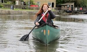 Maddy paddling