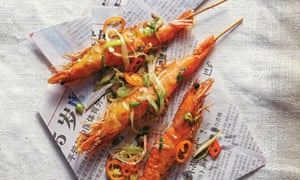 Salt and pepper tiger prawns