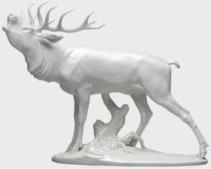 A belling stag designed by Professor Kärner.