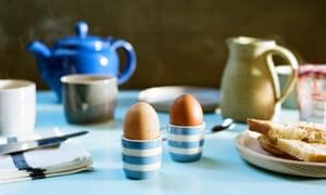 Boiled eggs, yesterday.