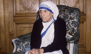 Mother Teresa, Paris, 1985.