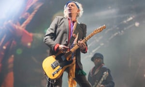 'I'm flattered that old Keef's become that sort of cartoon figure' … playing Glastonbury, 2013.