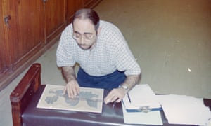 Wael Sherbiny working on the manuscript at the Cairo Museum
