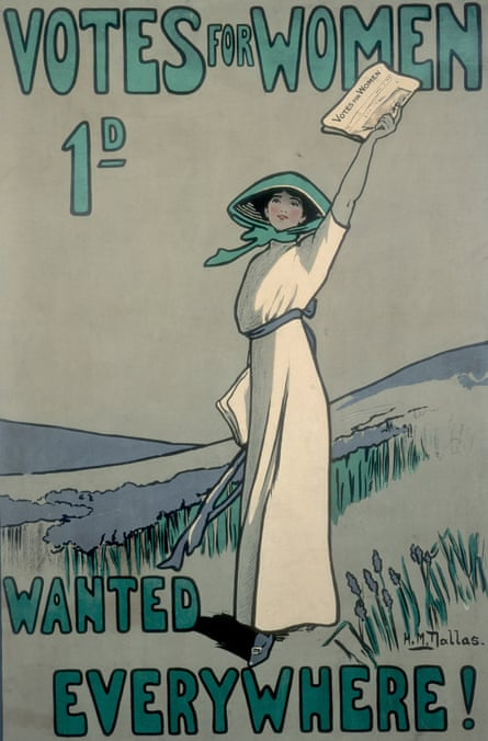 The 1909 'Votes for Women' poster, designed by Hilda Dallas, who was a member of the WSPU.