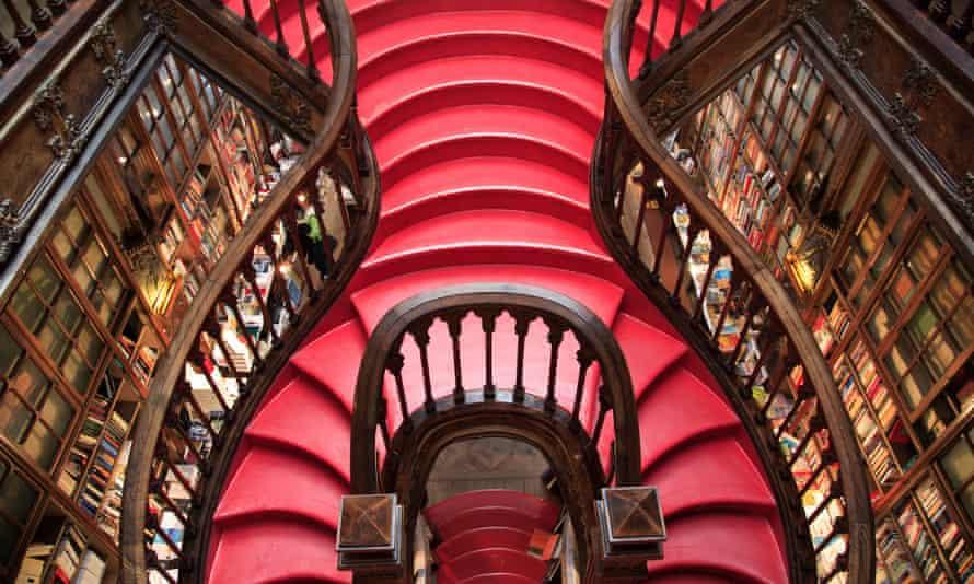 The Livraria Lello bookshop in an art nouveau building