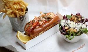 Lobster roll from Burger & Lobster.
