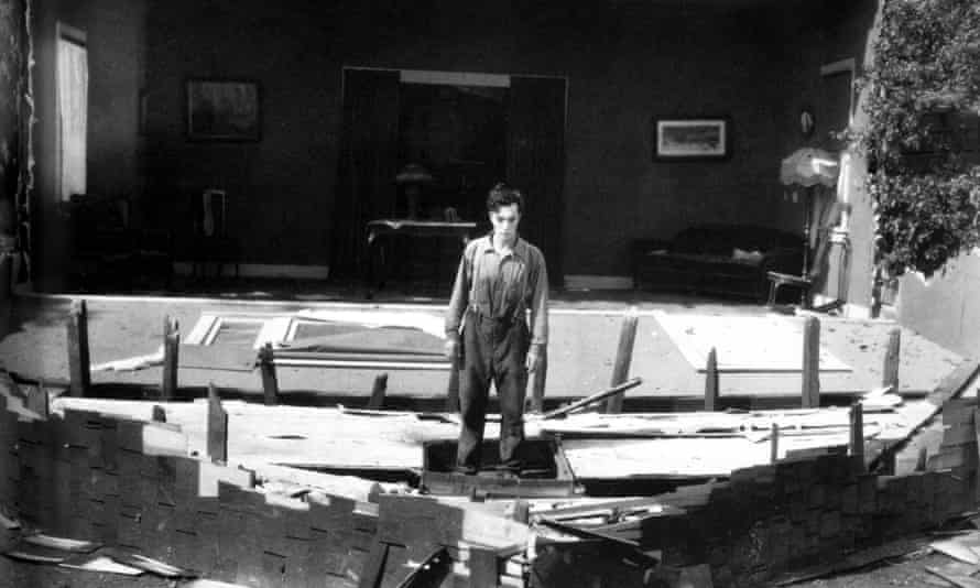Buster Keaton in the 1928 silent film Steamboat Jr.