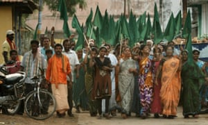 'It gives those of us in the affluent parts of the world more reason to feel bad and only a suggestion of what to do with that feeling' ... a march against a coal-fired power plant in India.