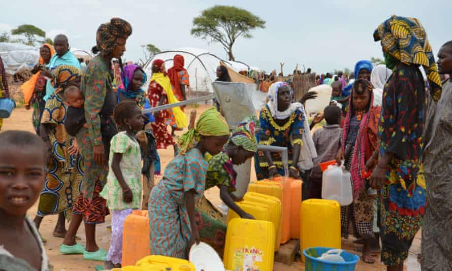 A UN camp for Nigerian refugees who have fled the Boko Haram Islamic extremist group.