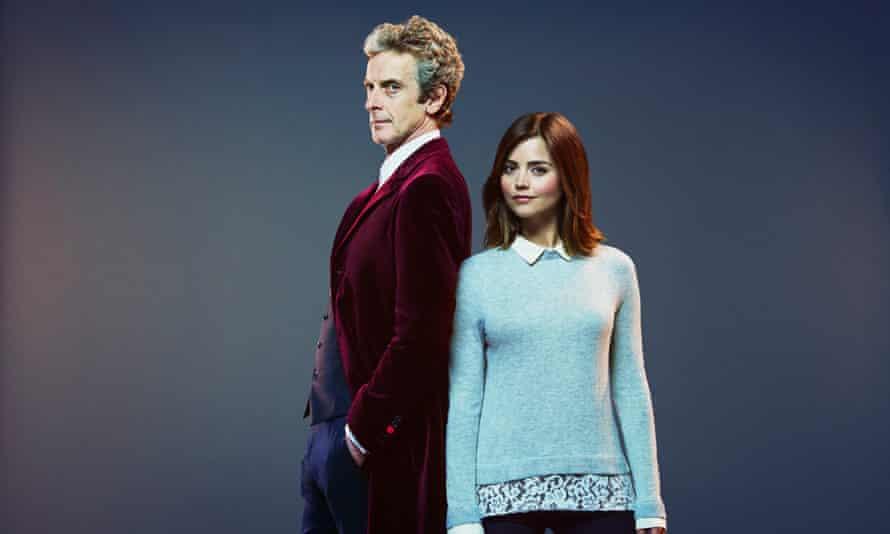 The Doctor and Clara… Peter Capaldi with Jenna Coleman.