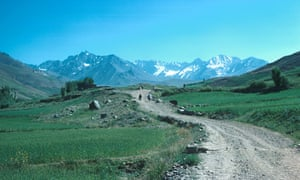 The ancient Silk Road winds into the Shah Foladi valley near Bamiyan in Afghanistan.