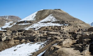Archaeologists and local laborers excavate the ancient city of Mes Aynak in Afghanistan, which sits on the Silk Road.